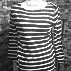 Gap striped shirt Edie Sedgwick style Small mod